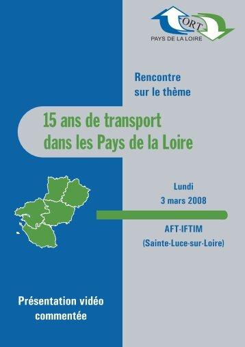 15 ans de transport dans les Pays de la Loire - ort-pdl.org : Bienvenue