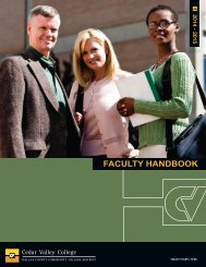 FACULTY HANDBOOK - Cedar Valley College