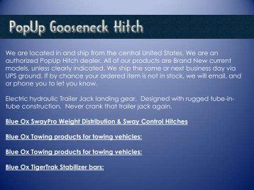 Gooseneck trailer hitches