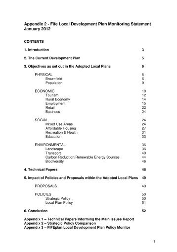 Appendix 2 - Fife Local Development Plan Monitoring ... - Home Page