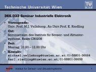 366.033 Seminar Industrielle Elektronik - Institut für Sensor- und ...