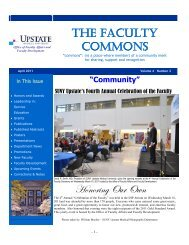 The Faculty Commons - SUNY Upstate Medical University
