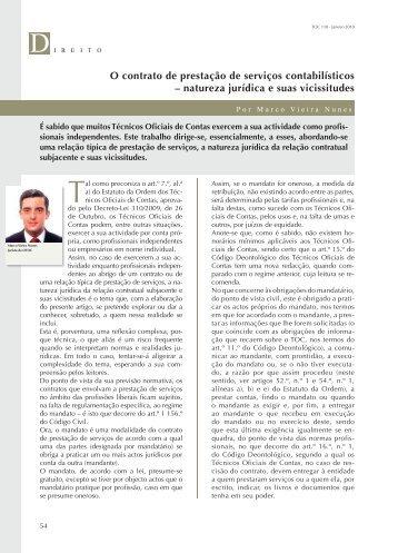 O contrato de prestação de serviços contabilísticos - Ordem dos ...