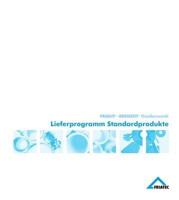 Lieferprogramm Standardprodukte