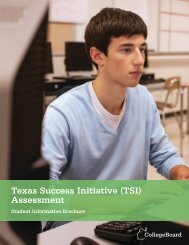 TSI ASSESSMENT Student Informational Brochure - College Board