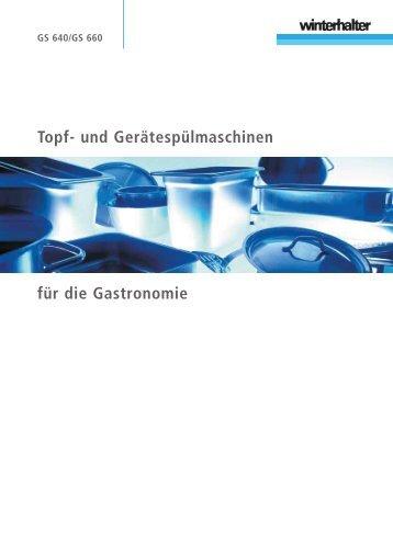 Topf- und Gerätespülmaschinen für die Gastronomie - Gastro Team ...