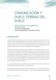 comunicación y duelo. formas del duelo - Sociedad Española de ...