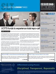 Issue 66 - Securities Lending Times