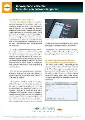 innovaphone Voicemail Meer dan een antwoordapparaat