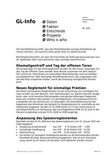 GL-Info Ø Daten - zeka, Zentren körperbehinderte Aargau