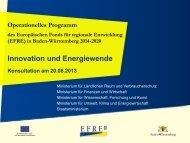 Innovation und Energiewende. Operationelles ... - RegioWIN