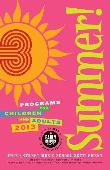 Summer Catalog - Third Street Music School Settlement