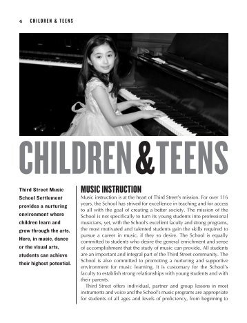 MUSIC INSTRUCTION - Third Street Music School Settlement