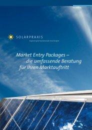 Market Entry Packages – die umfassende Beratung für ... - PV-TEST