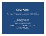The Green Development Mechanism 2010 Initiative - GDM - Earthmind