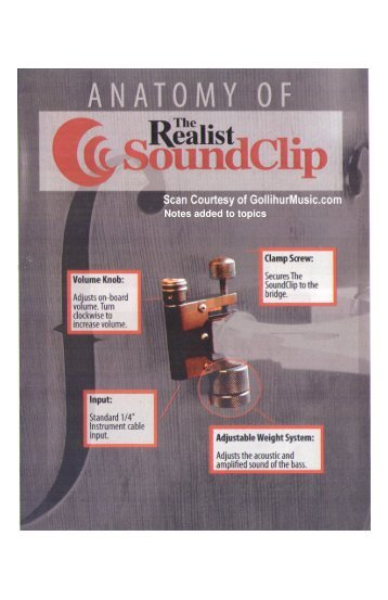 David Gage Realist SoundClip Upright Bass Pickup - Gollihur Music