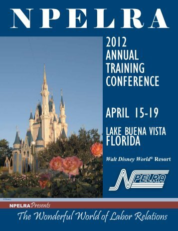 2012 ANNUAL TRAINING CONFERENCE APRIL 15-19 FLORIDA