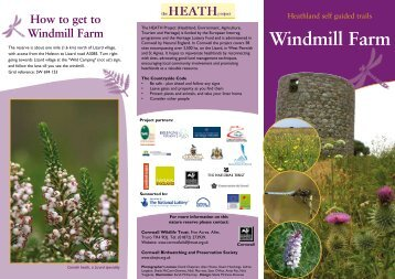 Windmill Farm Leaflet - Cornwall Wildlife Trust