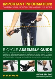 Assembly Instructions - Evans Cycles