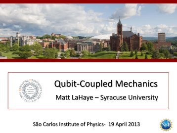 Qubit-Coupled Mechanics - IFSC