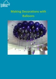 Making Decorations with Balloons Guide