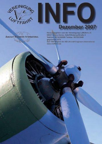 Dezember 2007 - Vereinigung Luftfahrt eV