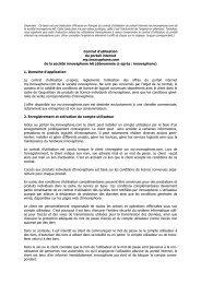 Contrat d'utilisation du portail internet my.innovaphone.com de la ...