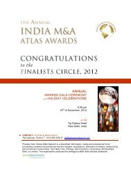 Announcing the Firm Finalists INDIA M&A ATLAS AWARDS List ...