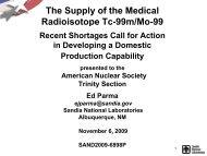 The Supply of the Medical Radioisotope Tc-99m/Mo-99