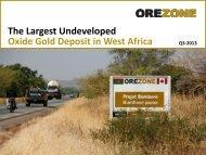 Investor Presentation - Orezone Gold Corporation