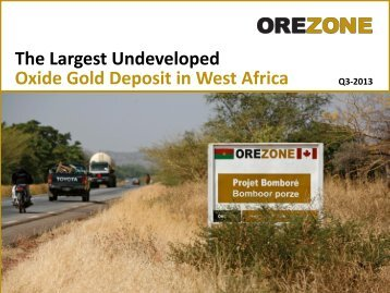 Investor Presentation - Orezone Gold Corporation