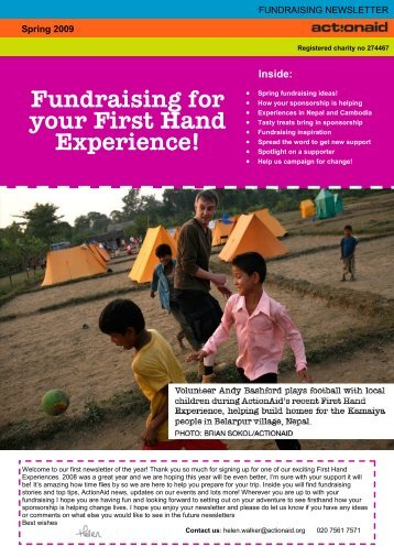 Newsletter new template - ActionAid