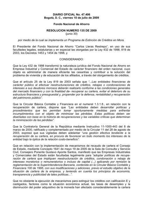 Diario Oficial No 47 406 Bogotá D C Viernes 10 De