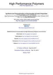 Synthesis and Characterization of Processable Aromatic Polyimides