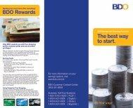 The best way to start. BDO Rewards