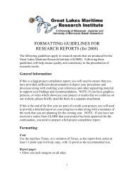 FORMATTING GUIDELINES FOR RESEARCH REPORTS (for 2008)