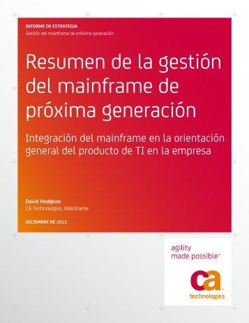 Resumen de la gestión del mainframe de ... - CA Technologies
