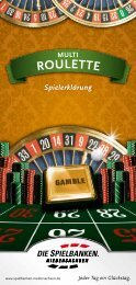Spielbeschreibung Multi-Roulette - Spielbanken Niedersachsen ...
