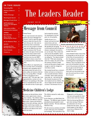 The Leaders Reader - Ka Ni Kanichihk