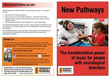 People with neurological disorders - Nordoff Robbins