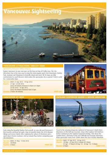 Vancouver Sightseeing - Destination Canada