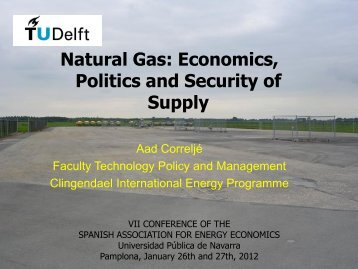 Natural Gas: Economics, Politics and Security of Supply - AEEE