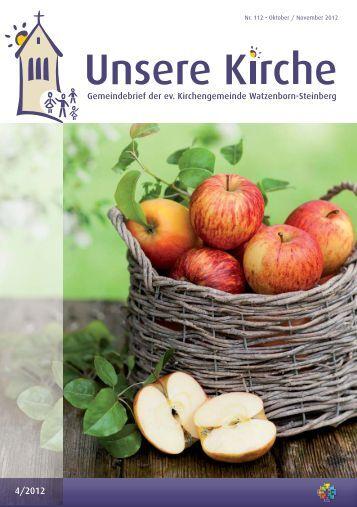 Unsere Kirche 4/2012 Oktober bis November - Evangelische ...