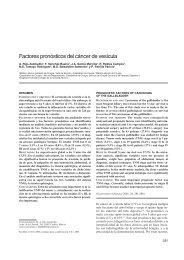 Factores pronósticos del cáncer de vesícula