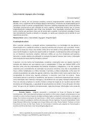 Cultura Imaterial: Linguagem, Arte e Tecnologia ... - Media Lab