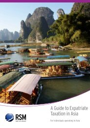 A Guide to Expatriate Taxation in Asia Pacific - RSM AAJ Associates