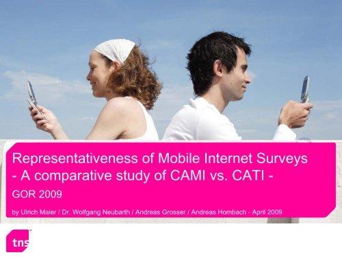 Representativeness of Mobile Internet Surveys