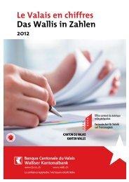 Valais en chiffres 2012 - Banque cantonale du Valais