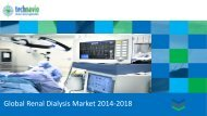 Global Renal Dialysis Market 2014-2018