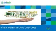 Insulin Market in China 2014-2018